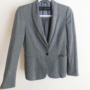 Zara Basics Charcoal Gray Blazer
